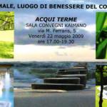Coordinatrice Convegno - Acqui Terme Maggio 2009