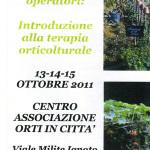 Coordinatrice Workshop Orti - Alessandria Ottobre 2011